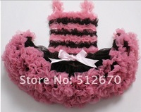 factory direct sales cute design girls ruffled tank tops with fluffly petti dress/skirt for retail /wholesale