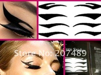 8PC/SHEET/PACK black stripe make up eyeliner  Smoky beauty sticker whcn+