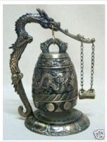 Collectables Exquisite Chinese Brass Dragon Bell bells Musical Instruments Free shippingh-201