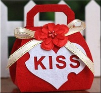 Free shipping new Kiss wedding favors/gift/candy boxes,Non-woven,Creativity& individuality wedding invitations 50pcs/lot R-P1