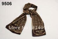free shipping 2012 all-match spring and autumn  print thin chiffon scarf female long chiffon silk scarf wj001