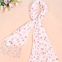 W10  Free shipping wholesale12 pcs/lot  hot selling ladies's scarf  lovely Tassel scarf high quality cotton scarf fashion shawl