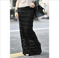 2012 free shipping wholesale shift maxi summer autumn lace fashion plus-size fat big large loose long pencil mini half skirts