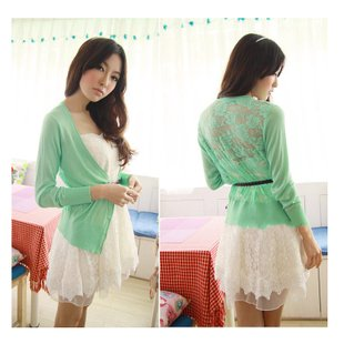 Spring Summer Autumn Cardigan Sweater Lace