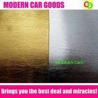 Wholesale 1.52x30m brushed aluminum chrome vinyl film car vinyl car wrap with air free channels high quality car stickers