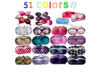 FREE SHIPPING Portable underwear storage box Multi Colored bra bag with zipper women travel bag 51 colors can choose
