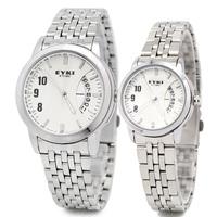 Eyki quartz watch fashion lovers table calendar watch fashion table steel watch 8408