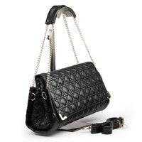 новый черный и белый зимой Роза шаблон дизайнер сумочку / несколько цветов женщин плечо сумка