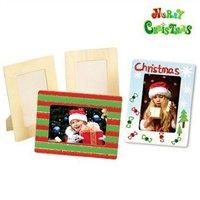 4PCS/LOT.Paint unfinished square picture frames,Photo frame,Home decoration.Christmas oranment.Wood crafts.Kids toys.19.5x14.5cm