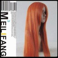 INOUE ORIHIME/80cm orange long straight hair cosplay wig ,heat resistance fibre Free shipping
