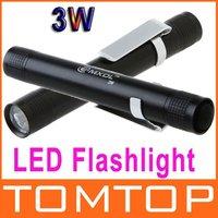3W LED Flashlight Torch Lamp light Outdoor Led Lighting Free shipping wholesale