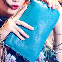 2012 Genuine leather wallet day clutch bag long chain shoulder messenger women's handbag H86
