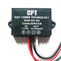 Free  shipping Black car led display power supply 12v 5v24v 5v 10a 50w led display car power supply