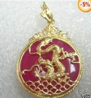 jade silver dragon phoenix pendant necklace