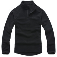 2012 polar fleece fabric fleece clothing sweatshirt outdoor jacket liner outdoor clothes plus size outerwear - black