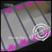 Nail sticking film French nail art full stick watermark metal nail stickers applique silver black