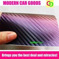 wholesale 152cm x 30m x 0.26mm purple chameleon carbon fiber vinyl film car vinyl car wrap colorful car stickers with air drains