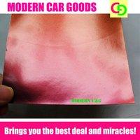 wholesale 1.52m x 30m x 0.26mm orange glossy chameleon vinyl film car vinyl car wrap colorful car stickers with air channels