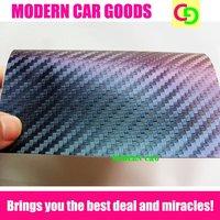 wholesale 152cm x 30m x 0.26mm blue chameleon carbon fiber vinyl film car vinyl car wrap colorful car stickers with air drains