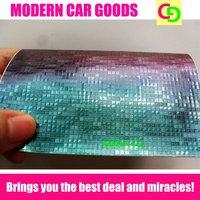 152cm x 30m x 0.26mm green mosaic chameleon vinyl film car vinyl car wrap colorful car stickers with air drains