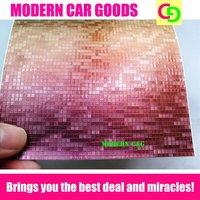 wholesale 152cm x 30m x 0.26mm orange mosaic chameleon vinyl film car vinyl car wrap colorful car stickers with air free drains