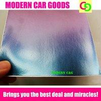 wholesale 152cm x 30m x 0.26mm blue glossy chameleon vinyl film car vinyl car wrap practicable car stickers with air channels