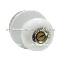 Plain white ceramic Cute lock hotel door lock wholesale and retail shipping discount 24 sets/lot S-006