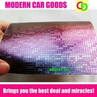 wholesale 152cm x 30m x 0.26mm purple mosaic chameleon vinyl film car vinyl car wrap colorful car stickers with air free drains