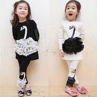 2012 autumn girls clothing baby set tz-0451
