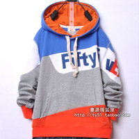Children's clothing male child 2012 autumn child long-sleeve T-shirt shirt with a hood sweatshirt 099223 blue