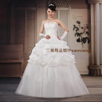 2012 tube top princess star new arrival brief elegant sweet princess wedding dress
