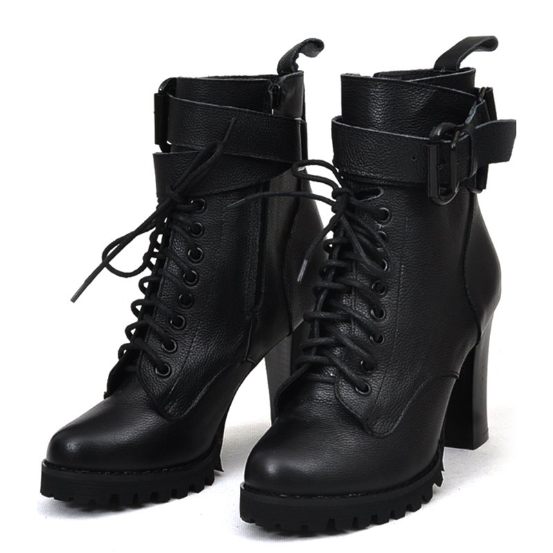Womens Leather Lace Up Ankle Boots | Santa Barbara Institute for ...