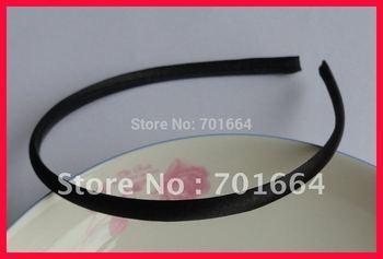 BARGAIN for BULK  7mm black  fabric wrapped plain plastic hair headbands at free shipping