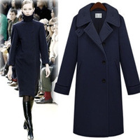 Free shipping-2012 three-dimensional high stand collar women's wool overcoat popular winter overcoat