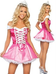 Pink Princess Dress European including headdress housemaid costume game uniforms sexy lingerie Club Wear(China (Mainland))
