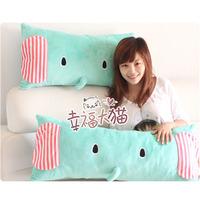 Mint green circleof plush doll cartoon Large double pillow cushion pillow unpick and wash ,Free shipping