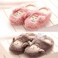 Autumn and winter 2012 sleep sheep alpaca little sheep home plush floor lovers thermal slippers