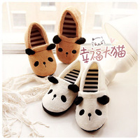 1212 ! hot-selling stripe derlook plush package with thermal slippers lovers floor