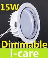 1500 LM 15W Dimmable Led Down Light Recessed Lamp 15X1W 120 Angle Warm White Led Downlight 110-240V