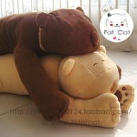 In super Large tare panda white brown dark brown blue pink is green pillow
