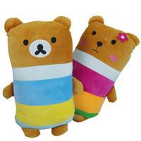 Easy bear pillow cushion long pillow kaozhen plush toy cute doll gift