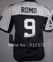 Free Shipping!!! 2012 new style #9 Tony Romo youth kids jersey throwback thanksgiving day blue