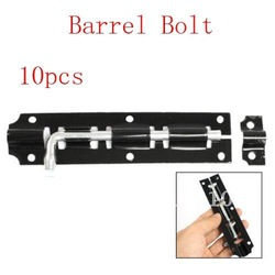 10 Pcs Window Door Hardware Tool Black Metal Barrel Bolt Latch(China (Mainland))