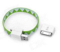 Uniersal USB adapter w/ Magnetic USB Charging/Data Cable For iphone 4s bracelet shape