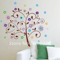 "24""*36"" tree sticker Plum flower wallpaper walls art wall stickers/ home decoration Wholesale Free shipping"