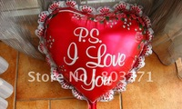 Party & Holiday&Lovers Balloon,26',Heart Shape Design Foil Ballon,10pcs/lot,2colors-Free Shipping