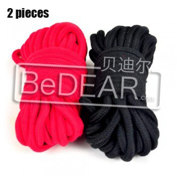 Sex toys binding cord,Adult Games,cotton,Black+Red,2 pieces