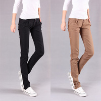 Free Shipping 2012 mid waist high-elastic slim casual female trousers harem pants pencil skinny pants boot cut jeans 998