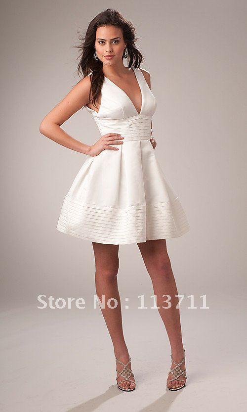 Фото белых коротких платьев