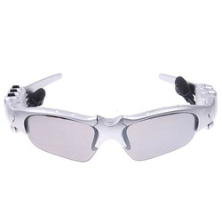 FM Radio Headset Fashion Sport Sunglasses Sun glasses Silver(China (Mainland))